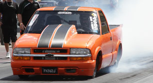 7-second Chevy S10 powered by a Haltech and a 2JZ