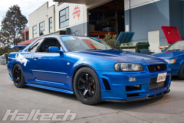 Haltech engine management systems blog archive haltech heroes looking near stock this bayside blue nissan r34 gtr belongs to adam the owner and head tuner at jem just engine management swarovskicordoba Gallery