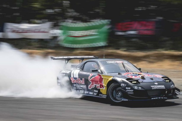 Mad Mike Whiddet performs at the formula drift championship Ebisu circuit, Ebisu Japan on June 10, 2017 // Miles Holden / Red Bull Content Pool // P-20170613-00451 // Usage for editorial use only // Please go to www.redbullcontentpool.com for further information. //